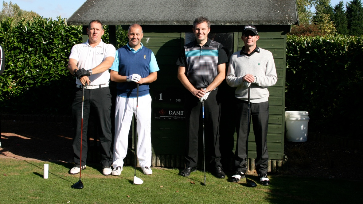 Heppys Golf Society - 2013 Curly Cup Tee Shot - Tony Challenger, Darren Bartlett, Steve Harlington & Paul Harlington